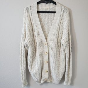 Olive & oak cable knit cardigan